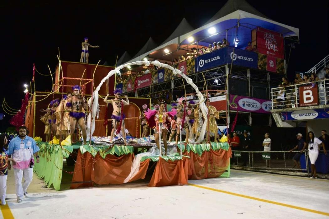Carnaval de Vitória 2019: Rosas de Ouro foi a 3ª agremiação a desfilar no Sambão do Povo na sexta (22). Crédito: Marcelo Prest
