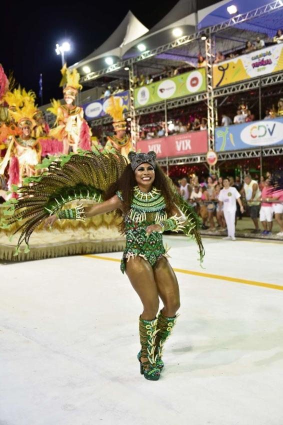 Carnaval de Vitória 2019: Andaraí desfilou no Sambão do Povo nesta sexta-feira (22). Crédito: Marcelo Prest