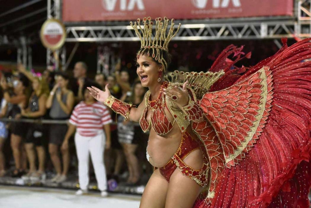 Carnaval de Vitória 2019: São Torquato foi a 4ª escola a desfilar na sexta-feira (22). Crédito: Fernando Madeira