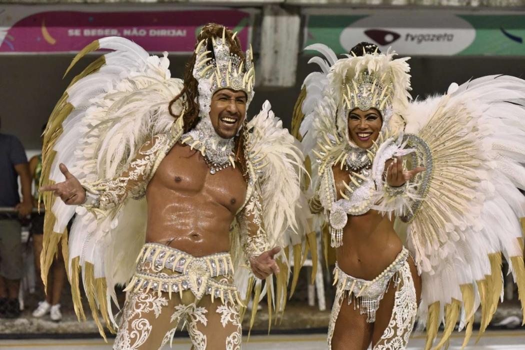 Carnaval de Vitória 2019: Tradição Serrana foi 6ª agremiação da sexta (22) a desfilar no Sambão do Povo. Crédito: Fernando Madeira