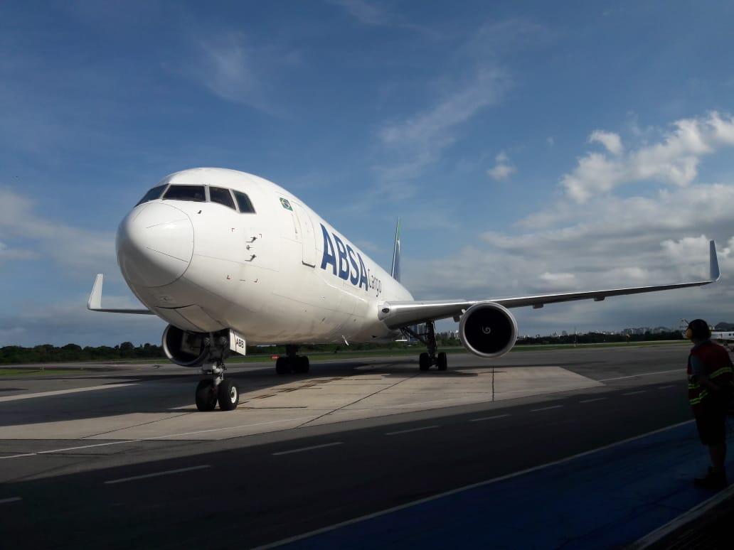 Aeroporto de Vitória recebe novo cargueiro. Crédito: Divulgação   Infraero