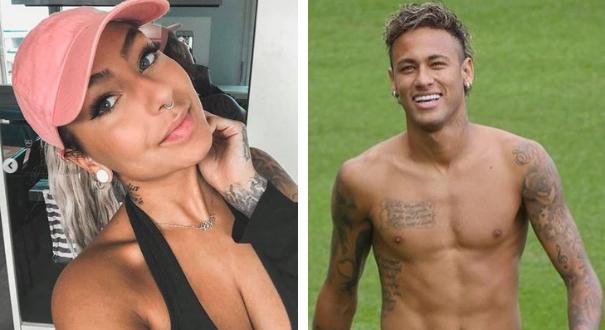 Liza Brito e Neymar: os dois viveram noite quente em Paris, antes de o craque voltar para o Brasil. Crédito: Montagem Gazeta Online