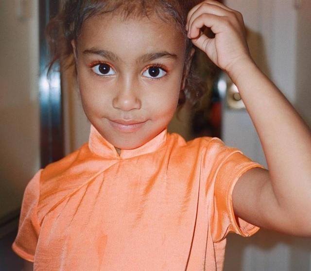 26/02/2019 - North, de cinco anos, primeira filha de Kim Kardashian e Kanye West. Crédito: Instagram/@kimkardashian
