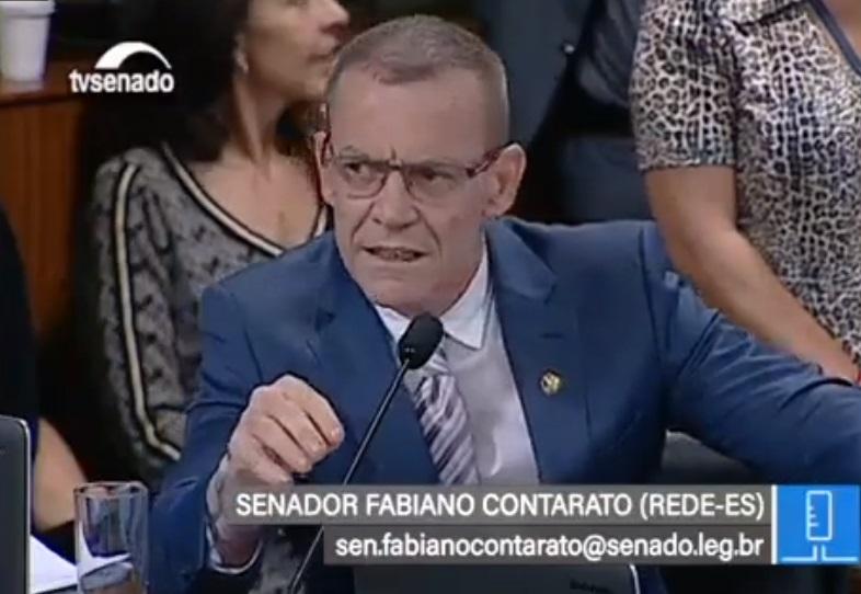 Senador Fabiano Contarato (Rede). Crédito: Reprodução/TV Senado