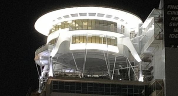 Iluminação do FindesLab já foi testada. Crédito: Findes/Divulgação