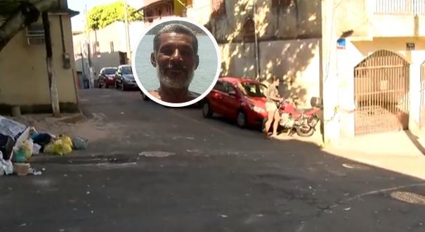 Rua onde Jorge Luiz Viana da Silva, 56 anos, foi assassinado a tiros em Caratoíra. Crédito: Reprodução/TV Gazeta