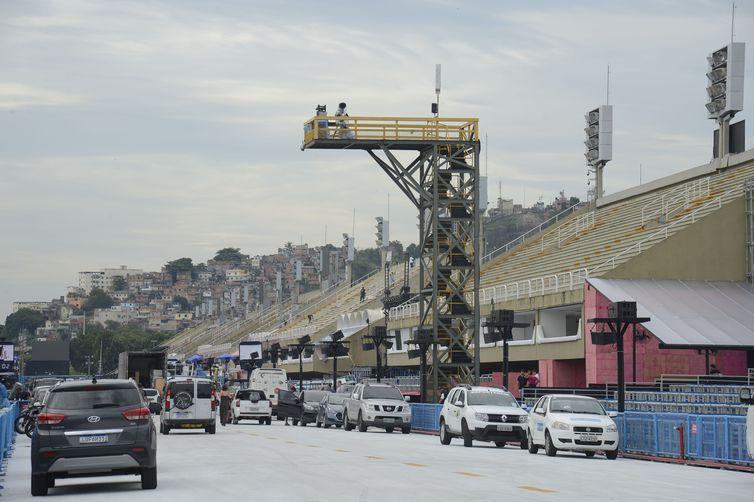 Sambódromo, na Marquês de Sapucaí, no Rio de Janeiro. Crédito: Fernando Frazão/Agência Brasil