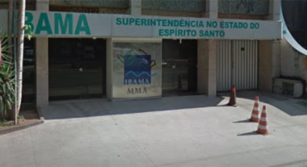 Superintendência do Ibama no Espírito Santo . Crédito:  Reprodução/Google Street View