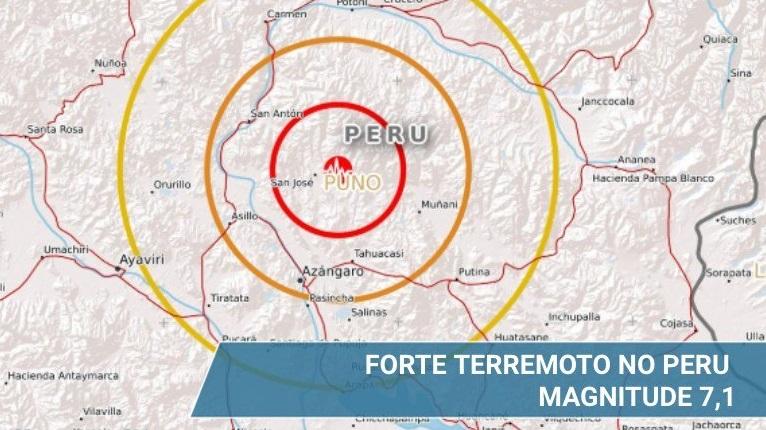 Terremoto no Peru. Crédito: Reprodução/Twitter