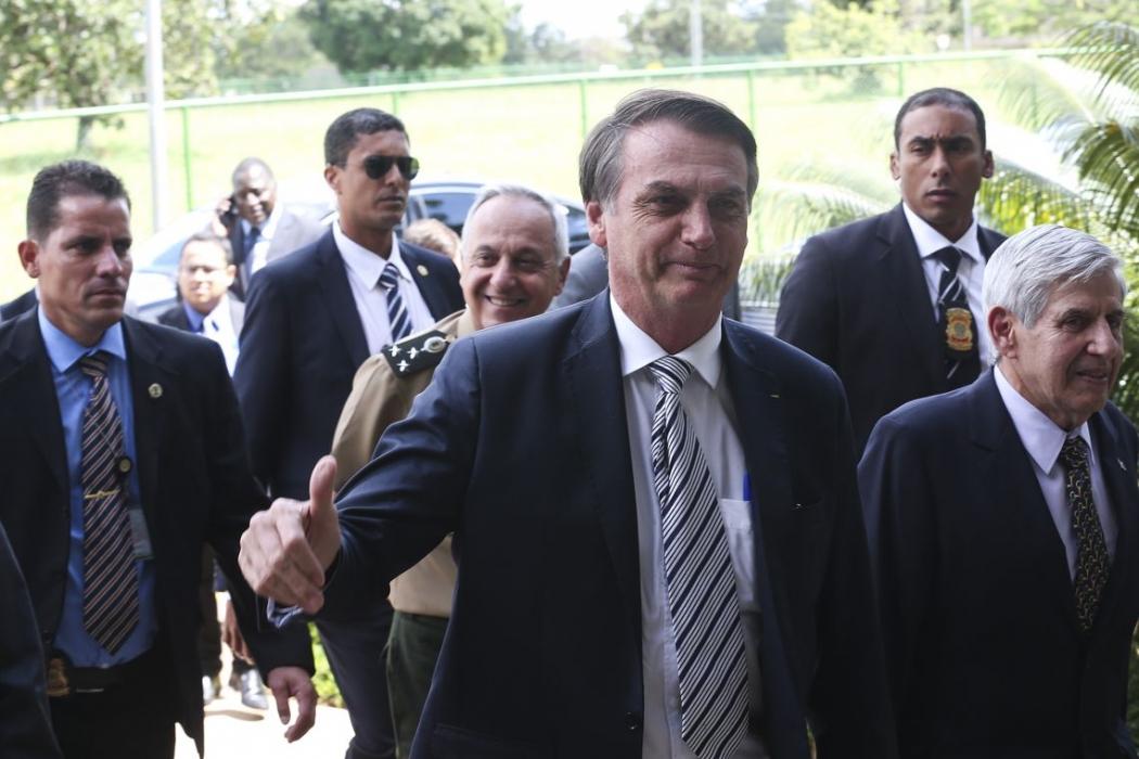 Bolsonaro assume o papel de defensor da reforma da Previdência, e mercados reagem. Crédito:   Antonio Cruz/Agência Brasil