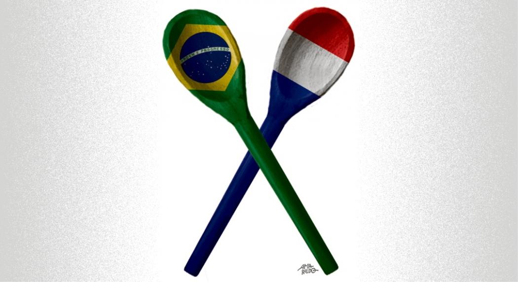 França e Brasil ligados pela paixão por colheres de pau. Crédito: Amarildo