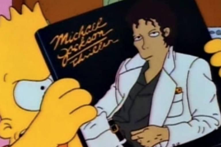 Episódio de 'Os Simpsons' que traz voz de Michael Jackson. Crédito: Divulgação