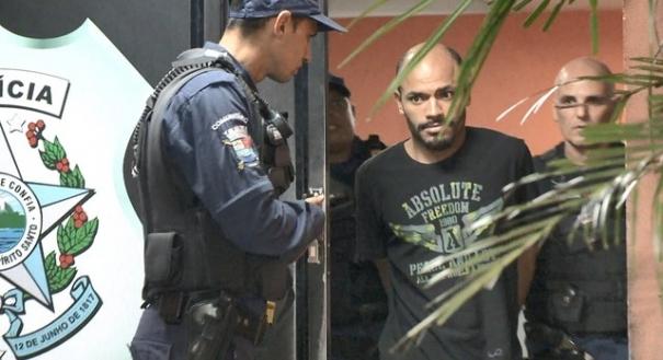 Imagem de junho de 2018, quando homem foi preso pela primeira vez por ameaçar a família