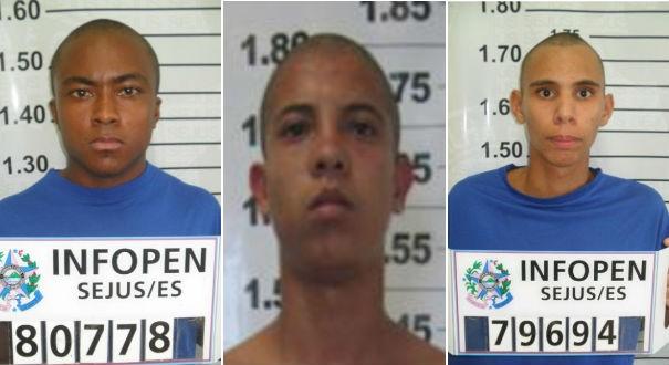 Deivid, Jhonatan e Douglas são procurados pela polícia por assaltos em Guarapari