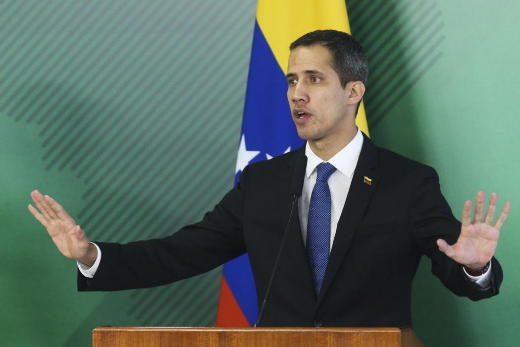O autoproclamado presidente interino da Venezuela, Juan Guaidó. Crédito: Antonio Cruz/Agência Brasil