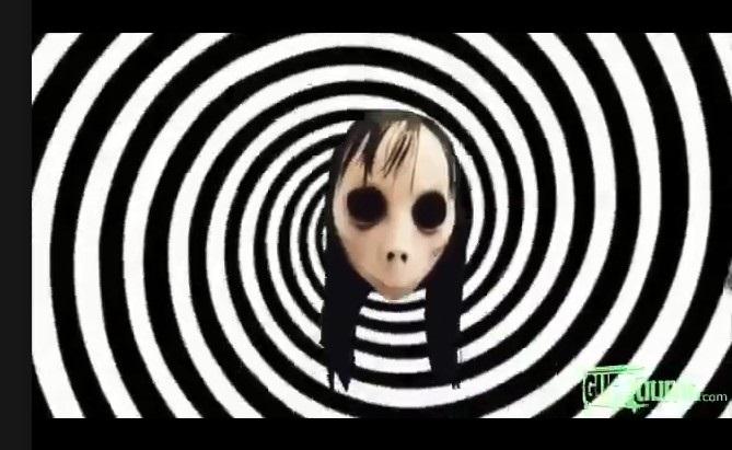 Momo agora aparece em vídeos infantis no YouTube. Crédito:  Reprodução / YouTube