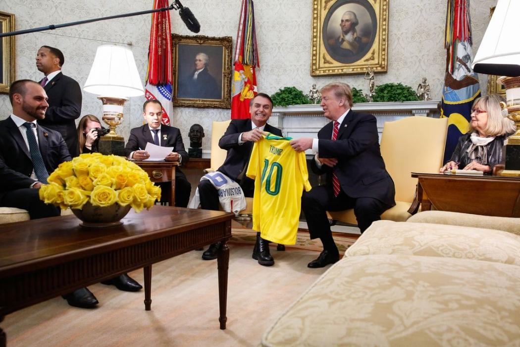 Jair Bolsonaro e Donald Trump. Crédito: Isac Nóbrega/PR
