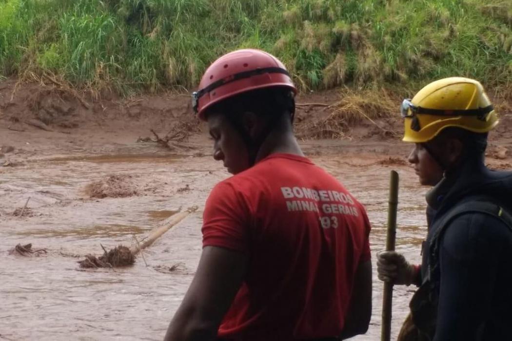 A tragédia causada pelo rompimento da barragem da Mina Córrego do Feijão, em Brumadinho. Crédito: Divulgação | Corpo de Bombeiros de Minas Gerais