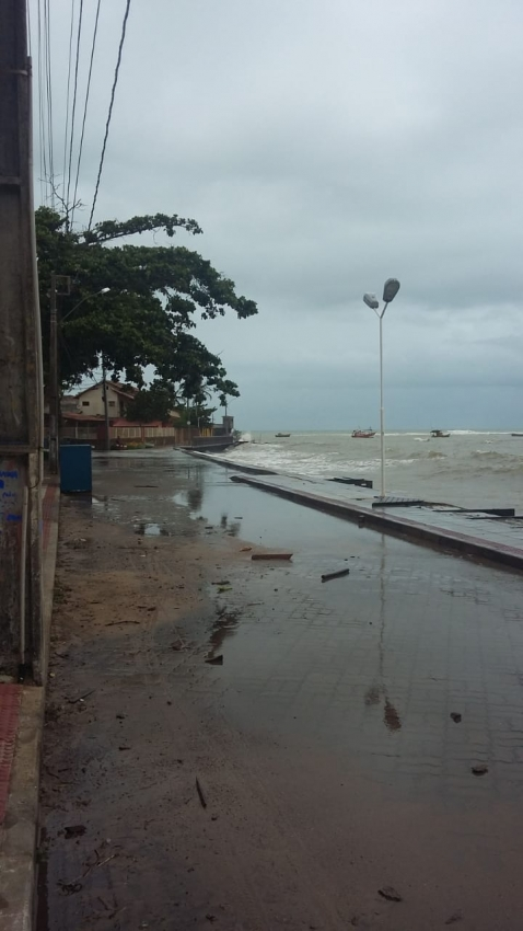 Orla da Praia de Parati, em Anchieta. Crédito: Sandra Ferreira