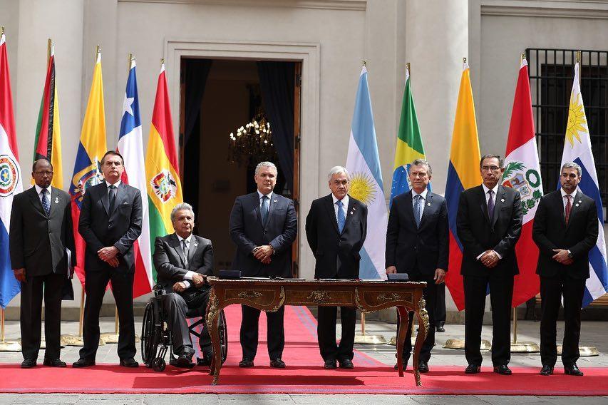 Jair Bolsonaro em Santiago, no Chile. Crédito: Instagram
