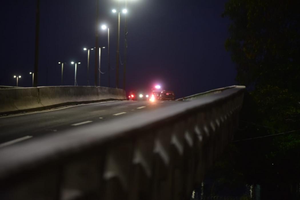 Segunda Ponte é interditada para operação de resgate neste sábado (23). Crédito: Marcelo Prest