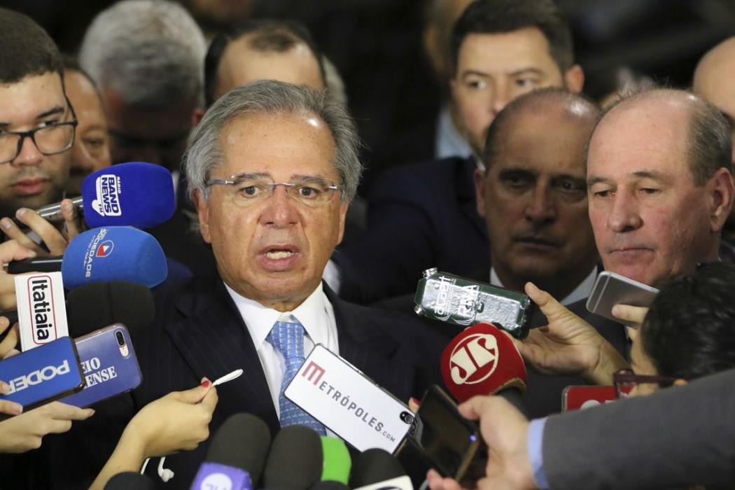 Guedes faz discurso positivo em evento para clientes do Goldman Sachs. Crédito: Windows)