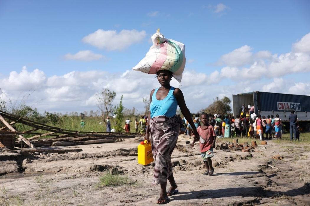 Ciclone atingiu Moçambique deixando centenas de pessoas desabrigadas. Crédito: Siphiwe Sibeko/ Reuters/Direitos Reservados