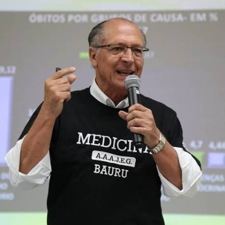 Depois das eleições de 2018, Geraldo Alckmin passou a integrar o grupo de professores de Medicina da Uninove de Bauru, em São Paulo. Crédito: Reprodução/Instagram @foto.guedes2