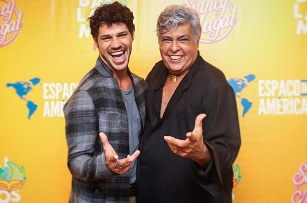 José Loreto e Sidney Magal. Crédito: Reprodução/Instagram @joseloreto