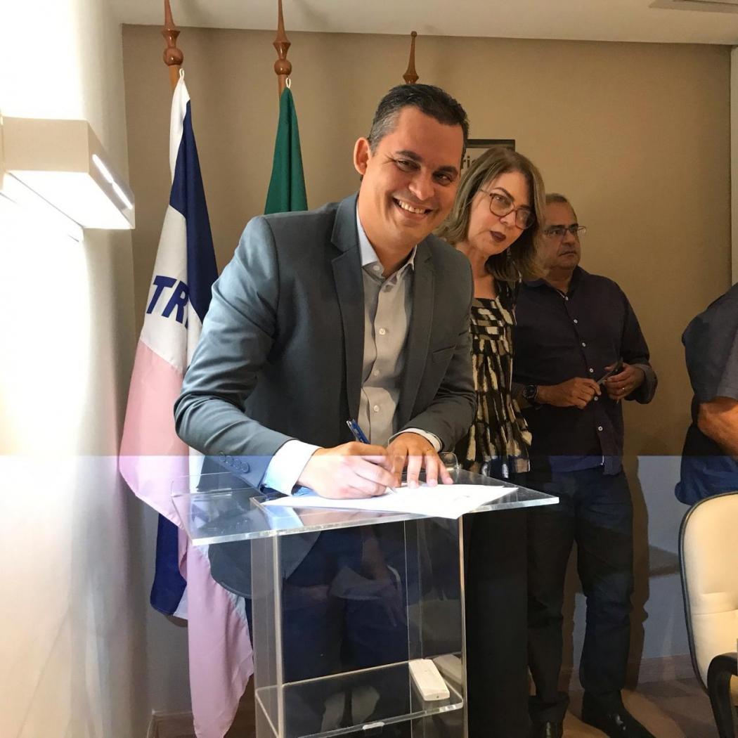 Gilson Daniel, prefeito de Viana, é o novo presidente da Amunes. Crédito: Daniele Bolonha