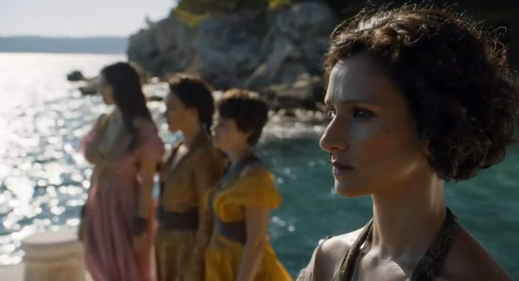 Game of Thrones: Ellaria Sand e três filhas de Oberyn Martell. Crédito: HBO