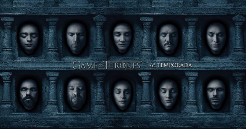 Poster da 6ª temporada de Game Of Thrones. Crédito: HBO