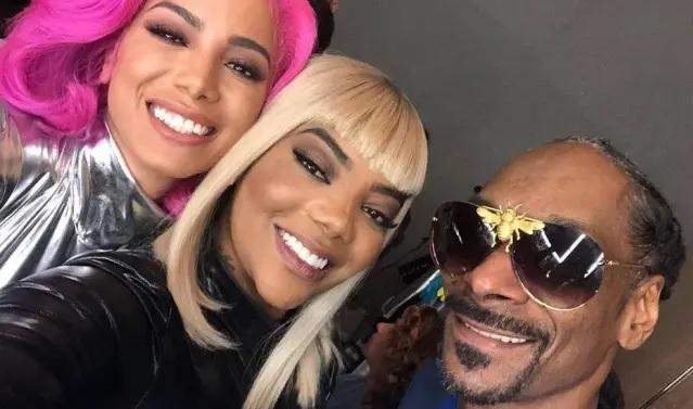 01/04/2019 - Anitta, Ludmilla e Snoop Dogg. Crédito: Instagram / @ludmilla