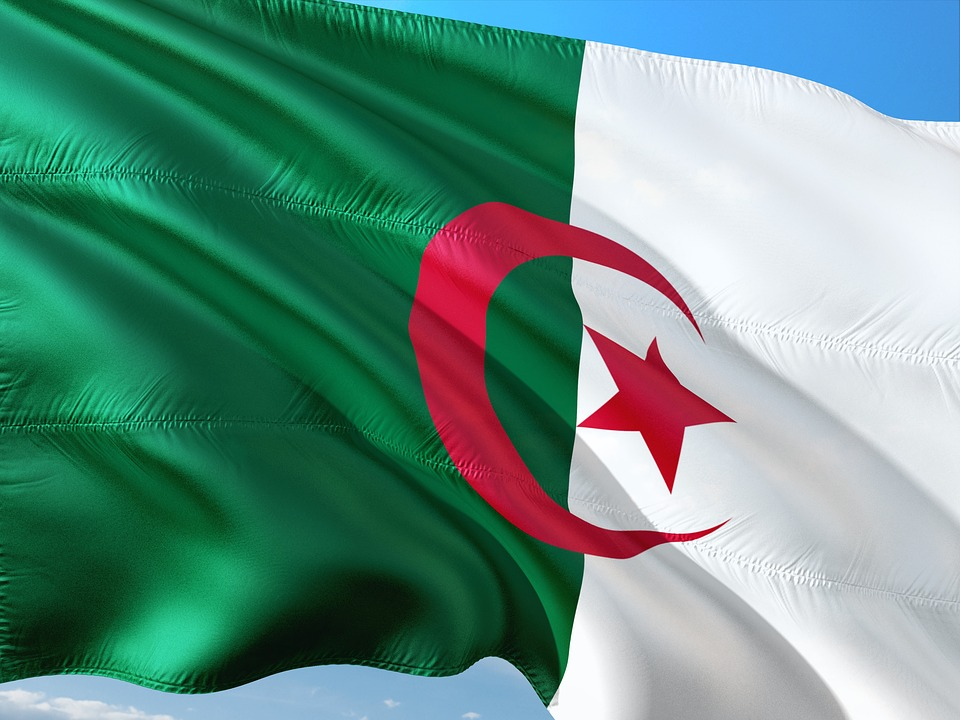 Bandeira da Argélia. Crédito: Pixabay