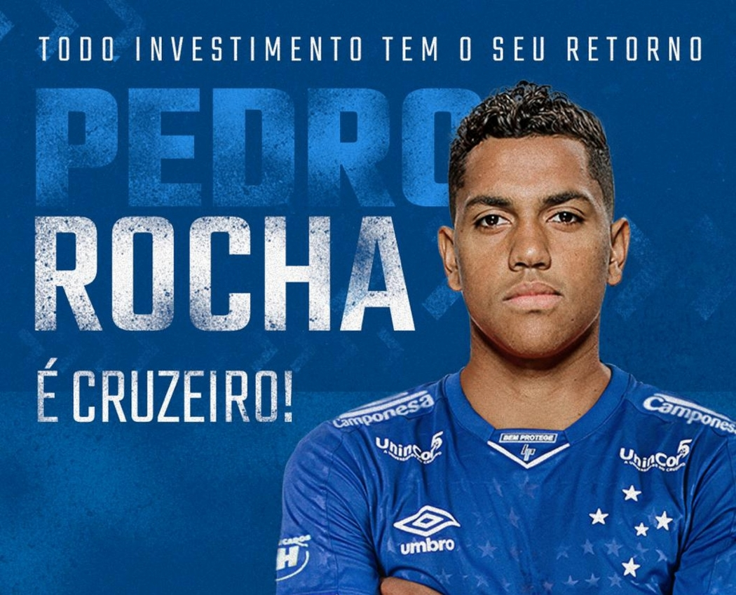 Capixaba Pedro Rocha é o novo reforço do Cruzeiro. Crédito: Reprodução/Twitter