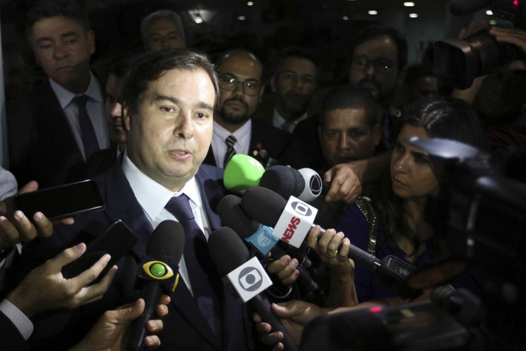 O presidente da Câmara, Rodrigo Maia (DEM-RJ),. Crédito: Windows)