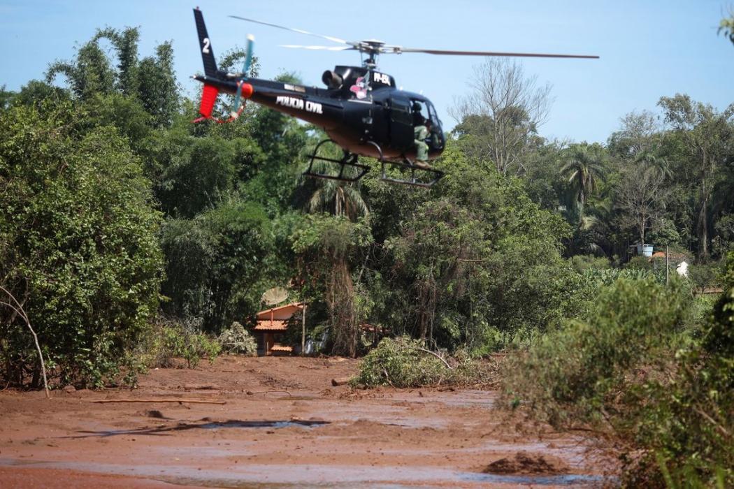 Rompimento de barragem da Vale, em Brumadinho. Crédito: Adriano Machado