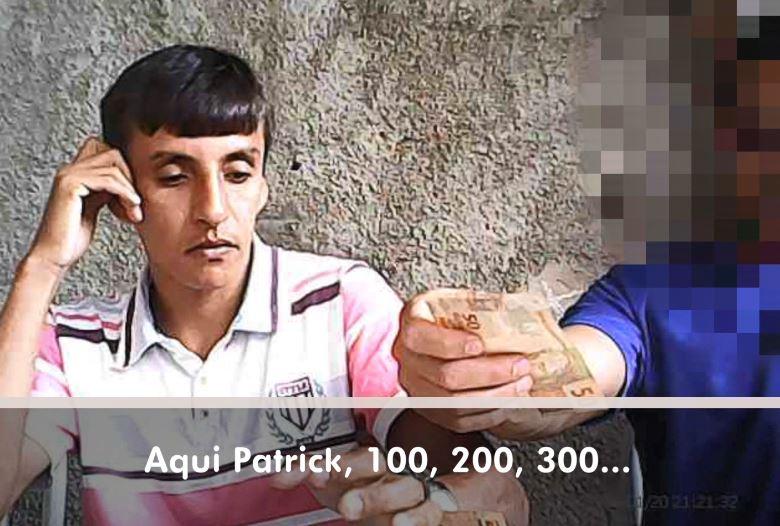 Vereador Patrick do Gás foi flagrado, em vídeo, recebendo dinheiro. Crédito: Reprodução