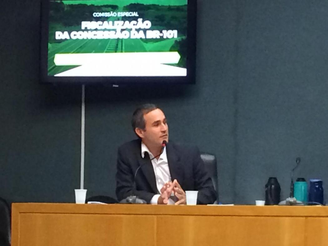 Especialista em regulamentação da ANTT, Rodrigo Lacerda. Crédito: Eduardo Dias