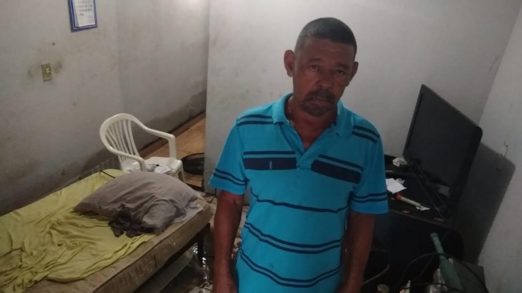O mecânico Daniel Francisco Noia Júnior, 59 anos, perdeu móveis. Crédito: Caíque Verli