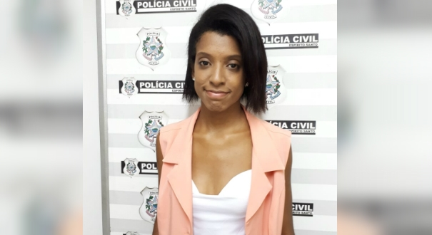 Karolline Souza Ribeiro, de 26 anos, foi presa na Serra