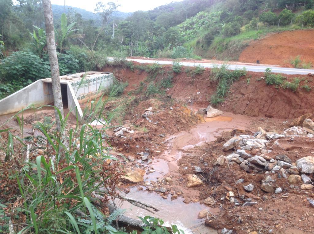 Trecho da BR 262 entre Marechal Floriano e a entrada de Paraju. Crédito: Divulgação