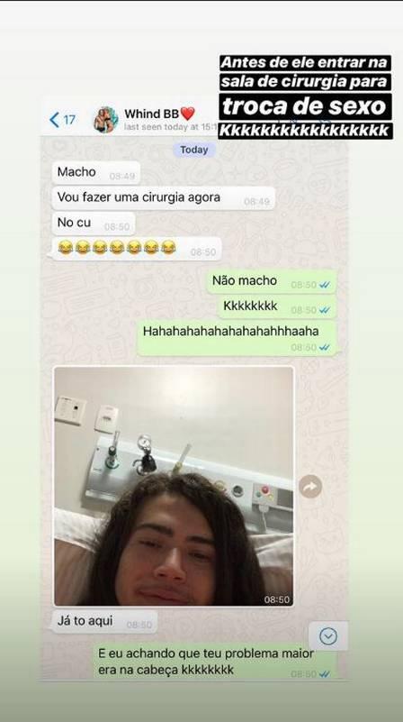 Whindersson Nunes é zoado por Tirulippa em bate-papo no WhatsApp