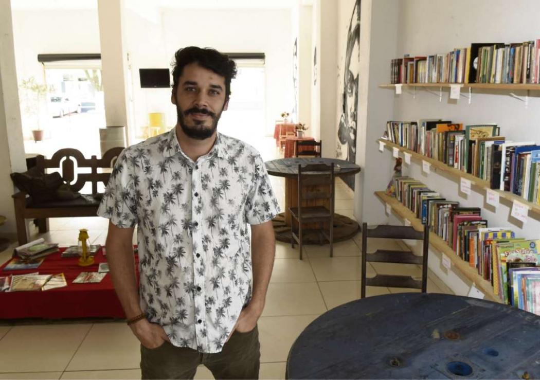 Antônio Vitor, psicólogo e agitador cultural que administra o projeto no Centro Cultural Eliziário Rangel. Crédito: Carlos Alberto Silva | GZ