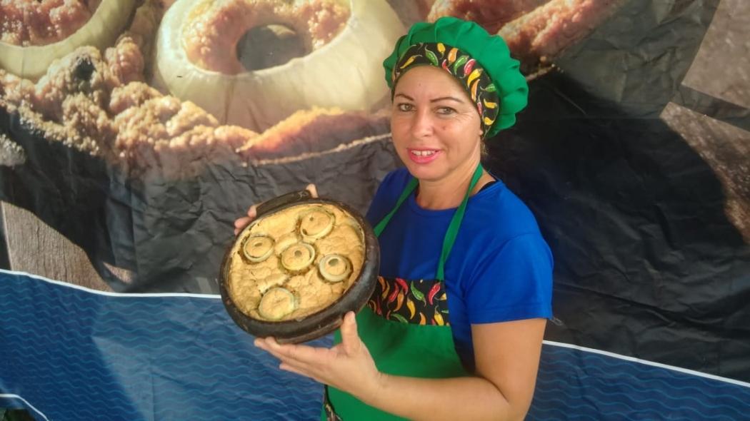Simone Leal, uma das expositoras do Festival da Torta Capixaba. Crédito: Caíque Verli