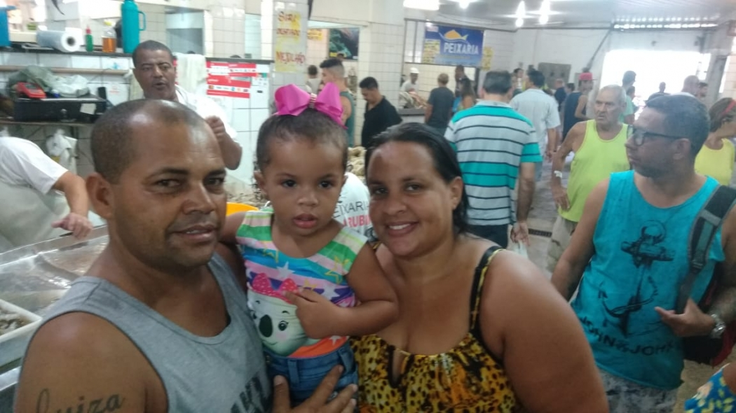 Genivaldo Santana foi com a família fazer compras na Vila Rubim. Crédito: Caíque Verli