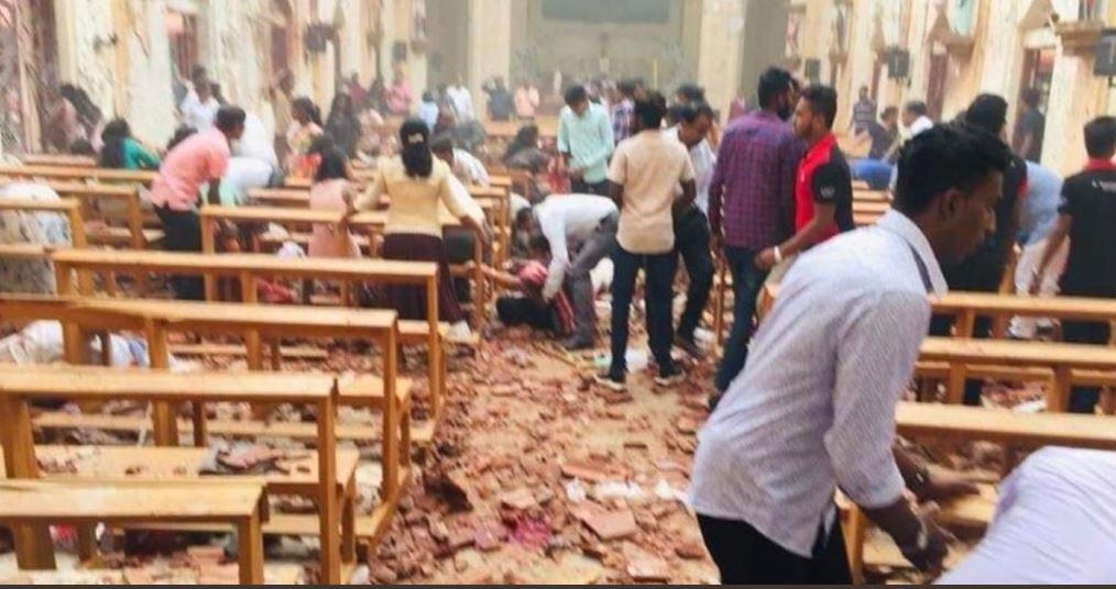 Atentado em igrejas no Sri Lanka. Crédito: Twitter   @LucaxLunardi   Arquivo
