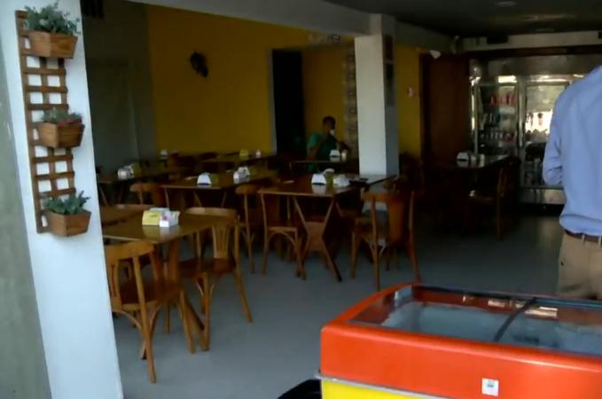 Cafeteria é arrombada durante a madrugada na Enseada do Suá. Crédito: Reprodução/TV Gazeta