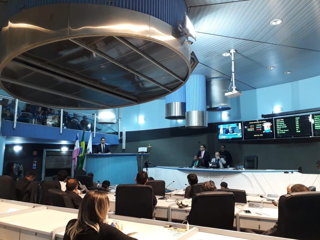 Sessão na Câmara de Vitória: mais rigor contra os vereadores que faltam ou atrasam. Crédito: Gazeta Online