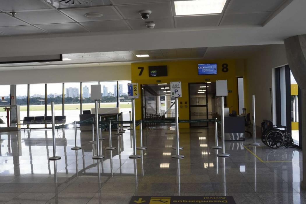 Portões de embarque internacional do novo Aeroporto de Vitória . Crédito: Vitor Jubini - 24/04/2019